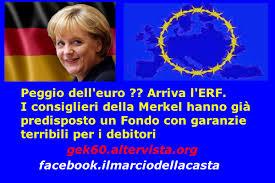 MERKEL E L'EURO