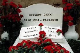 tomba di Bettino Craxi